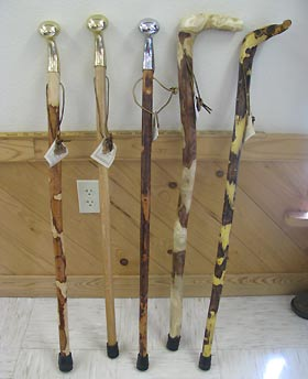 Hand made walking sticks